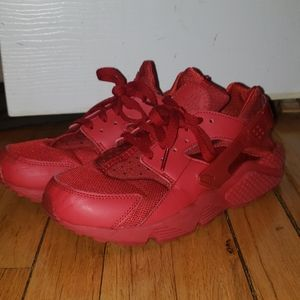 Red Huarache Sneakers
